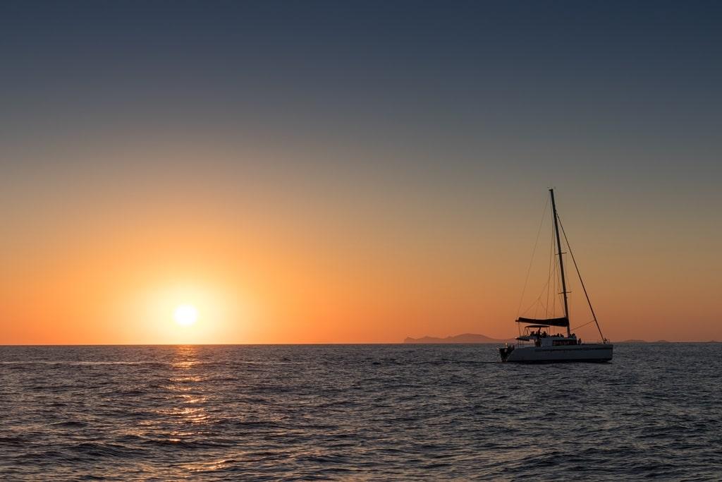 catamaran sailing in Santorini - 2 days in Santorini itinerary