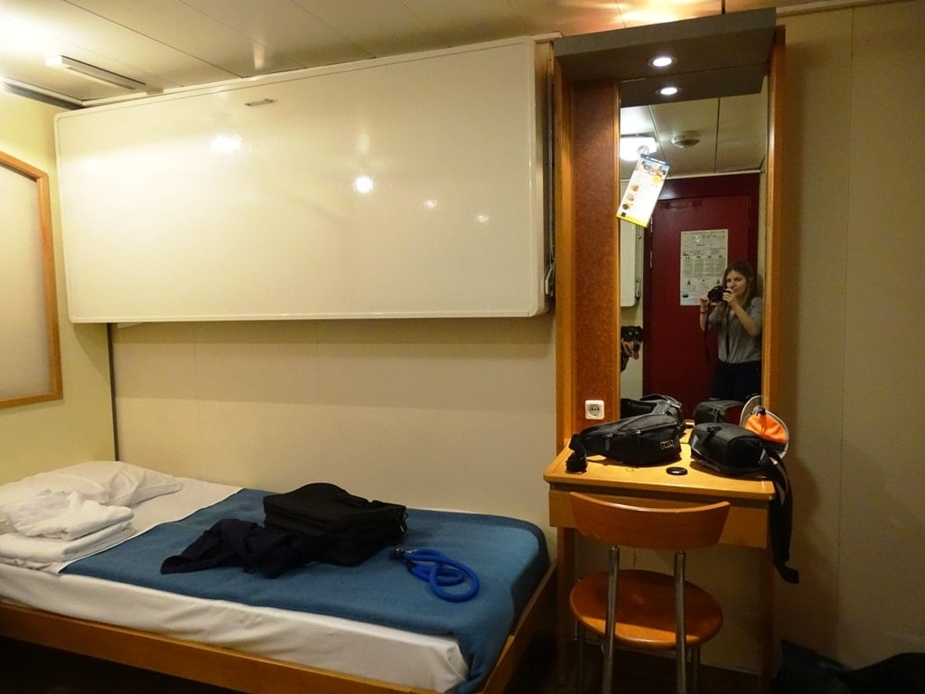 our cabin on the Piraeus Chania ferry