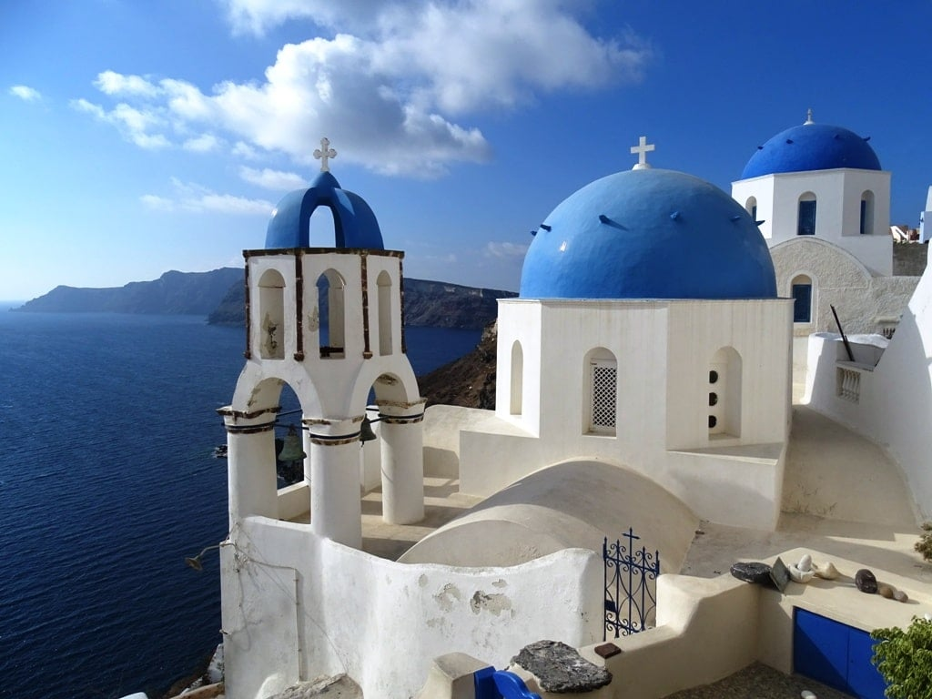 The blue domed churches in Oia - 2 days in Santorini