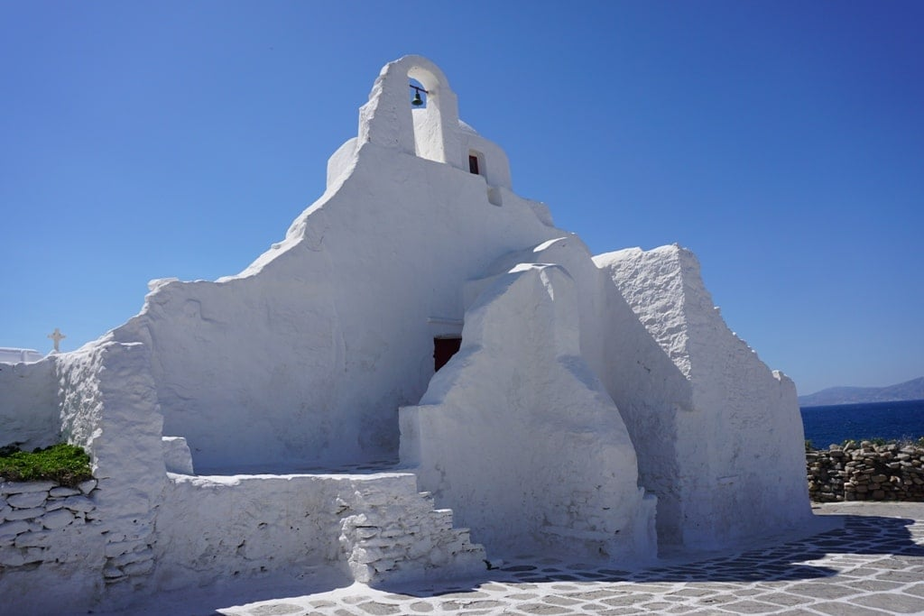 Paraportiani Church in Mykonos - one day in Mykonos