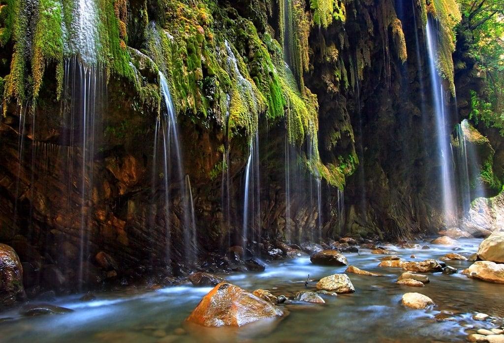 Panta Vrexei waterfalls Greece