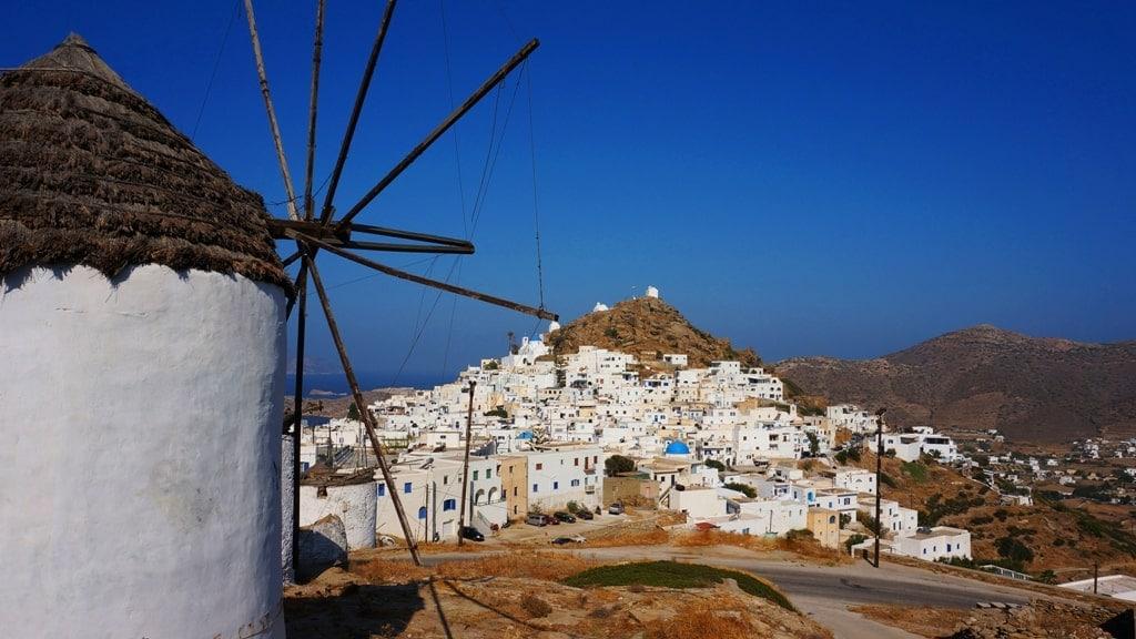 Windmills in Greece - Ios Island