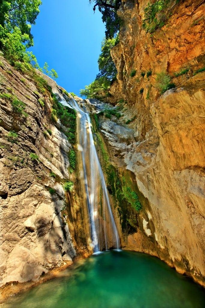 Nydri Waterfalls in Lefkada Greece