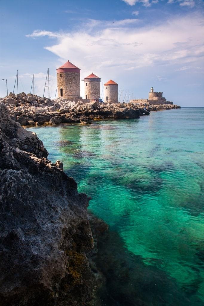 windmills in Greece - Rhodes
