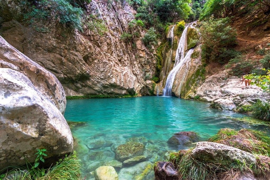 Polilimnio Waterfalls - Greek Waterfalls