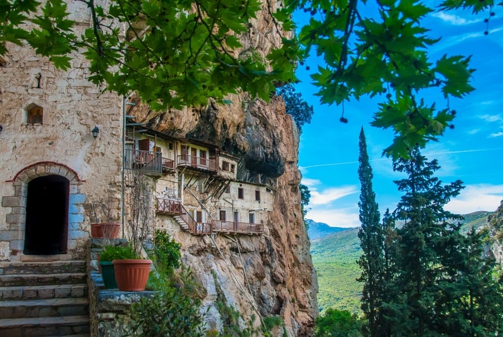 Prodromos Monastery -Lousios river Gorge - Hiking in Greece