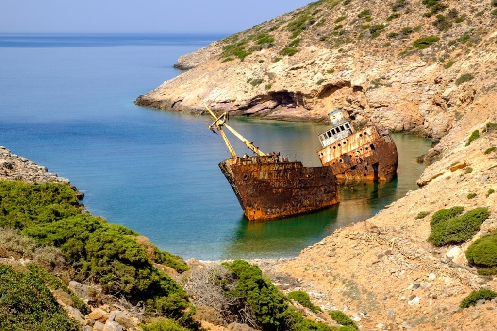 Olympia Shipwreck Amorgos Greece