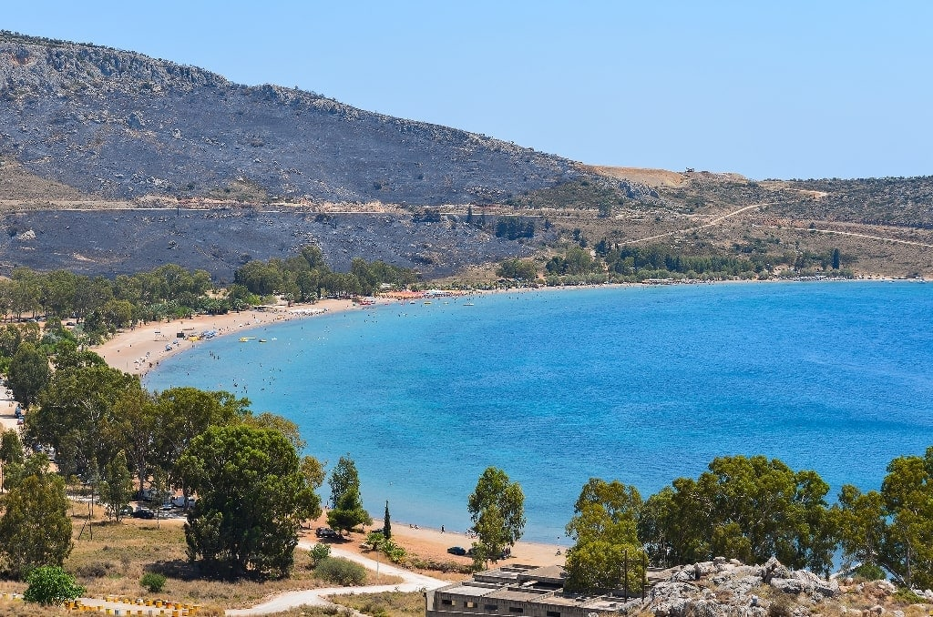 Karathonas Beach in Peloponnnese