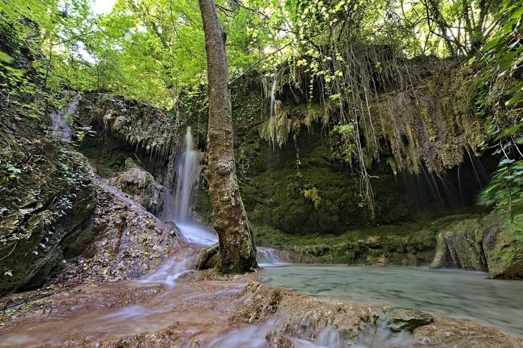 Skra Waterfall in Greece