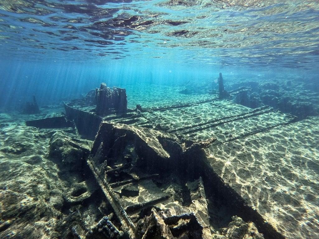 Sunken warship in Crete - diving in Greece