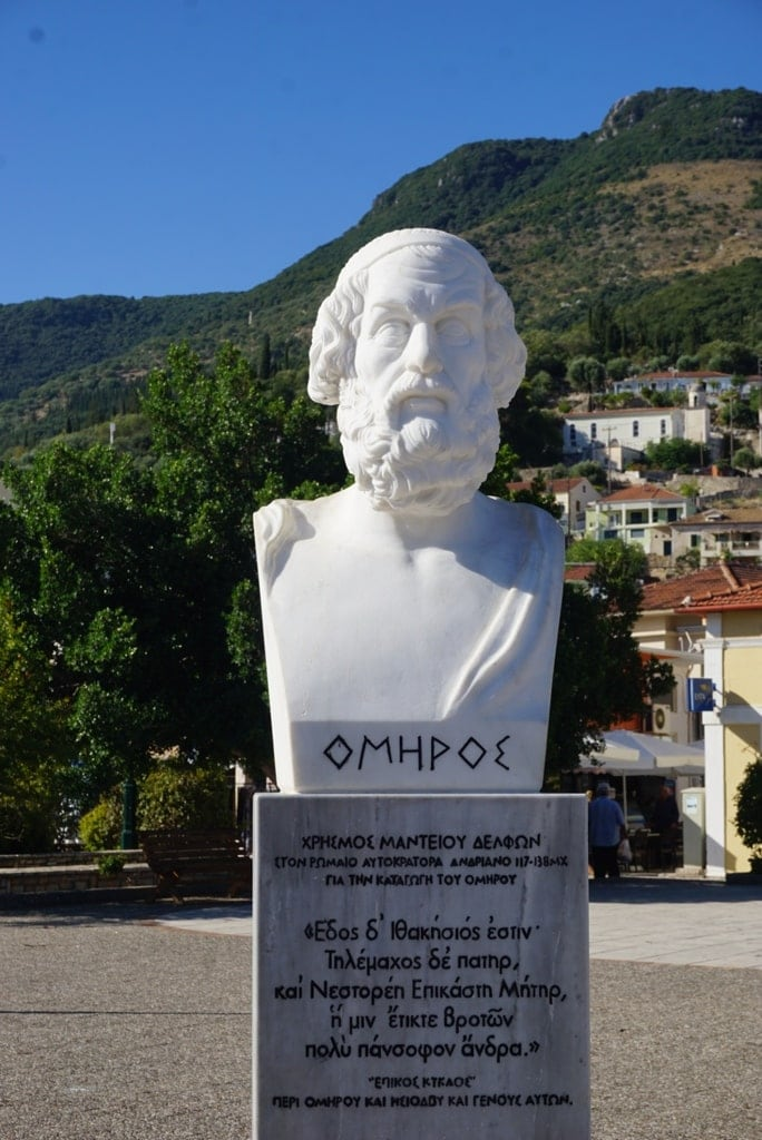 Homer statue in Ithaca Greece - famous people of Greece