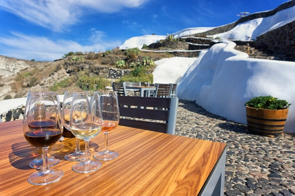 wine tasting in Santorini - 2 day Santorini itinerary