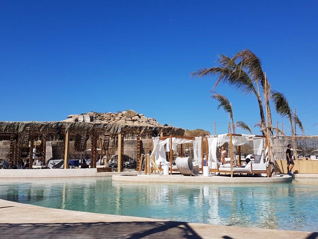 Beach bar in Paraga Mykonos in 2 days