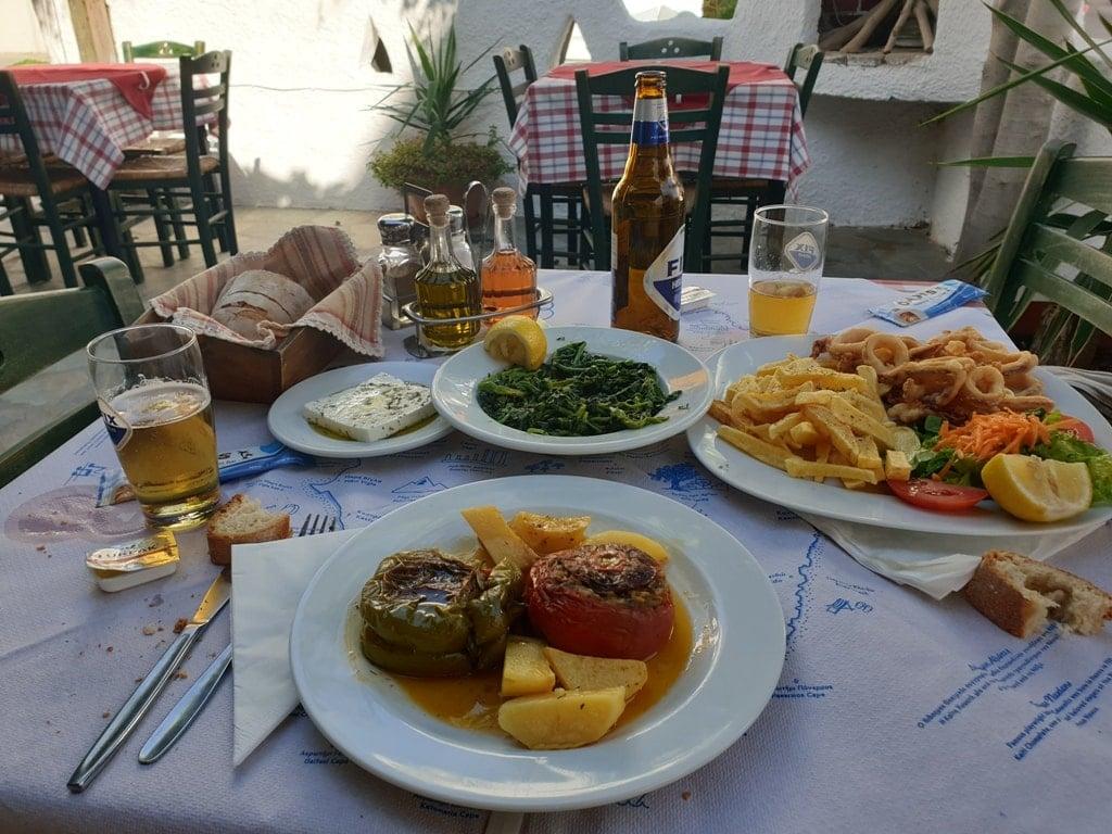 Taverna in Naxos Greece