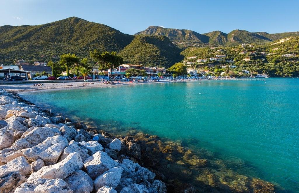 beach in Ipsos Corfu