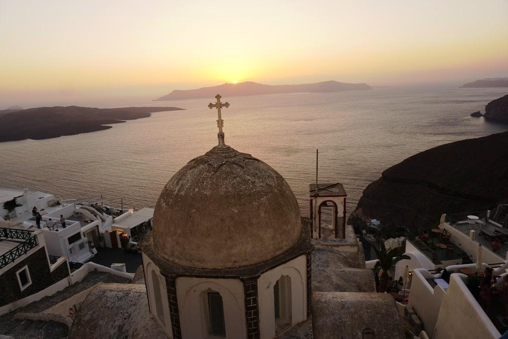 sunset from Fira