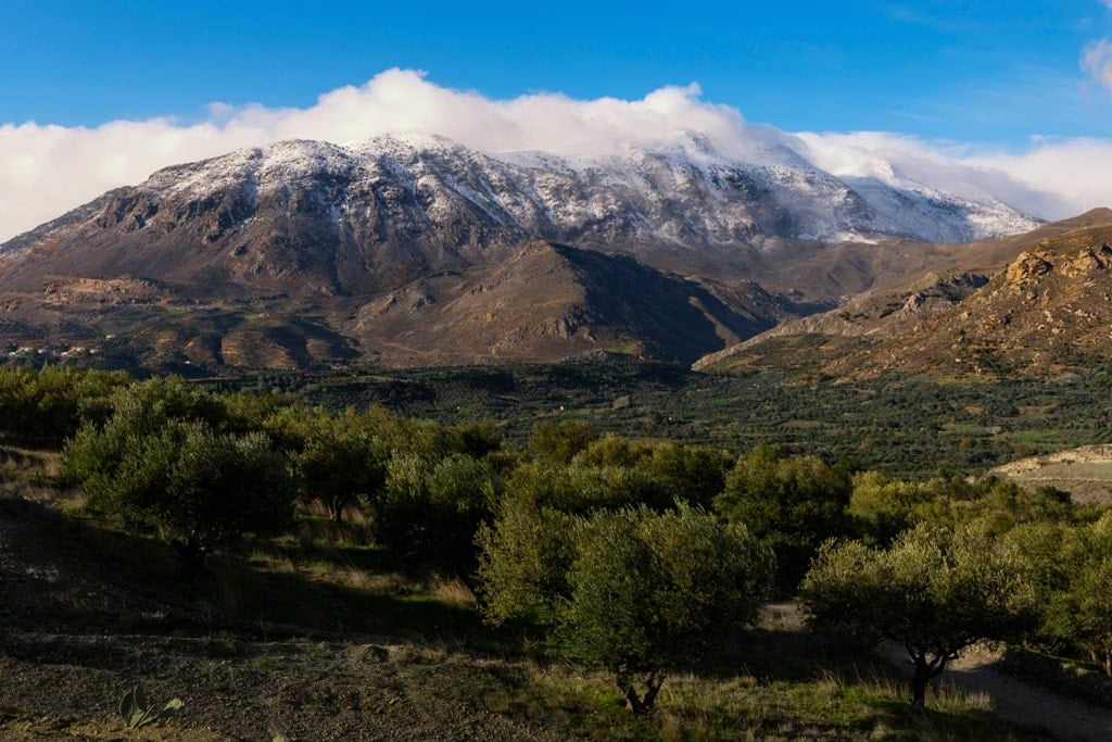 Psiloritis mountain in Crete Greece