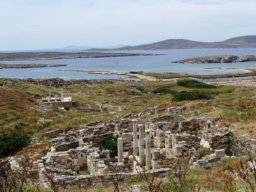 Archaeological site of Delos near Mykonos