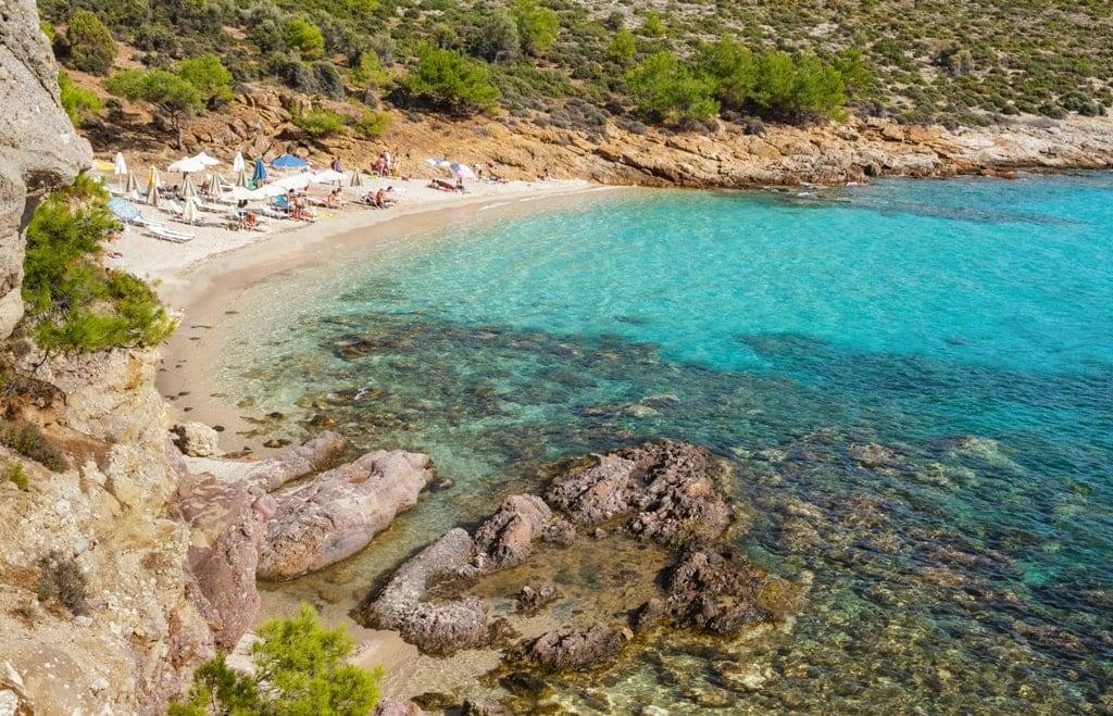 Notos beach in Thassos Island Greece