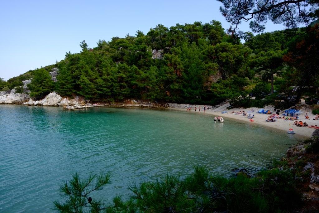 Glifoneri Beach - best beaches in Thassos