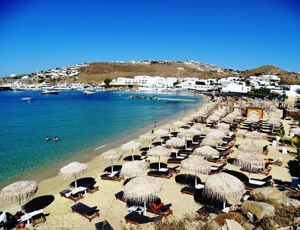 Platys Gialos Beach in Mykonos - 2 day itinerary
