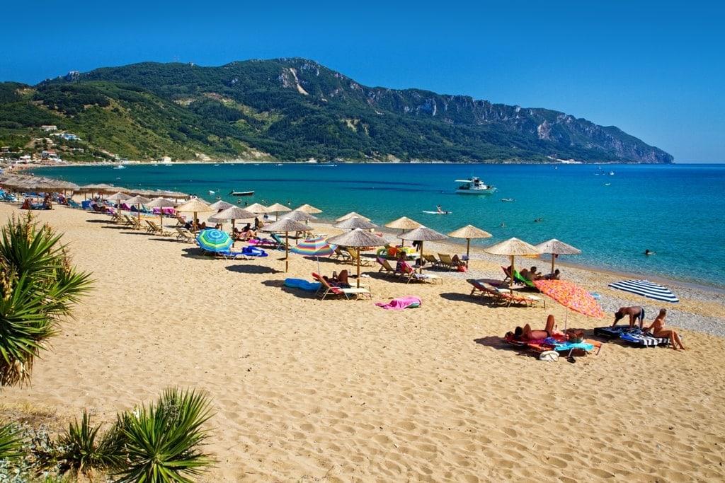 Agios Georgios beach - where to stay in Corfu