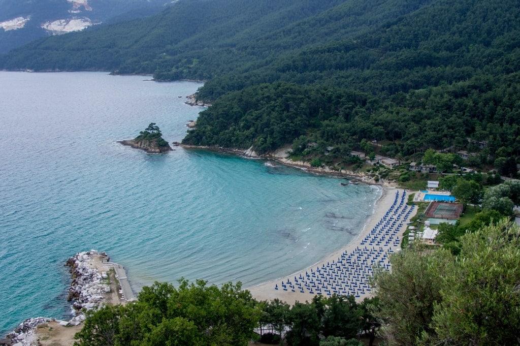 Μakryammos beach in Thassos