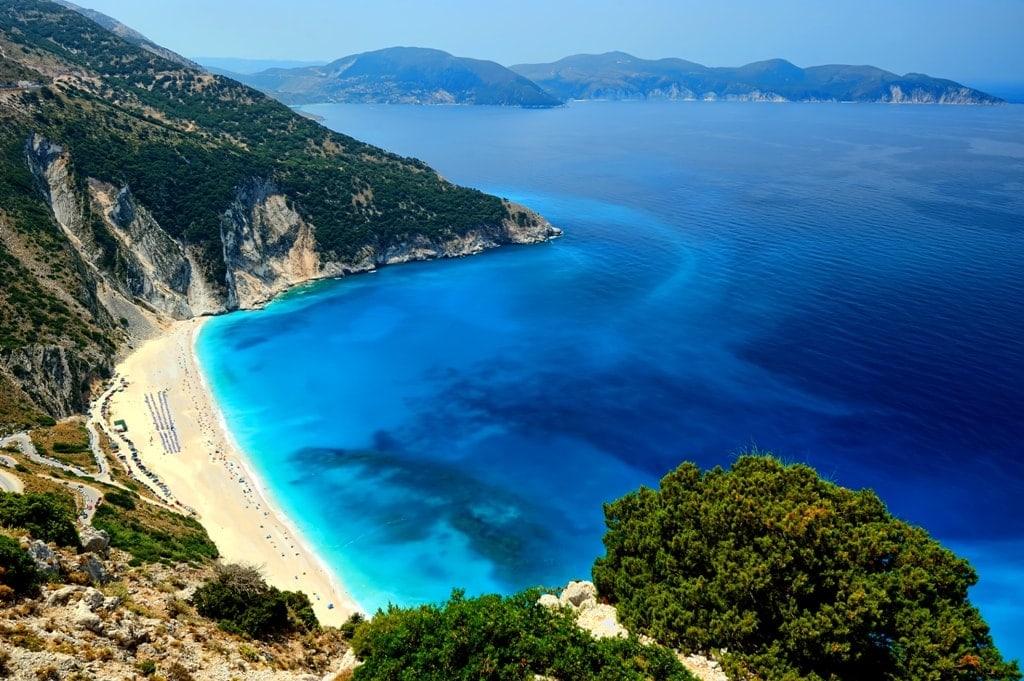 Exotic Myrtos Beach in Kefalonia