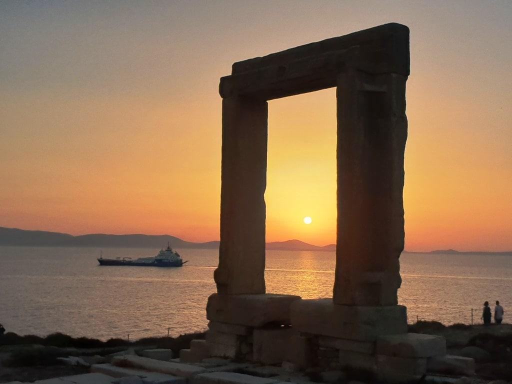 Portara at sunset - Things to do in Naxos