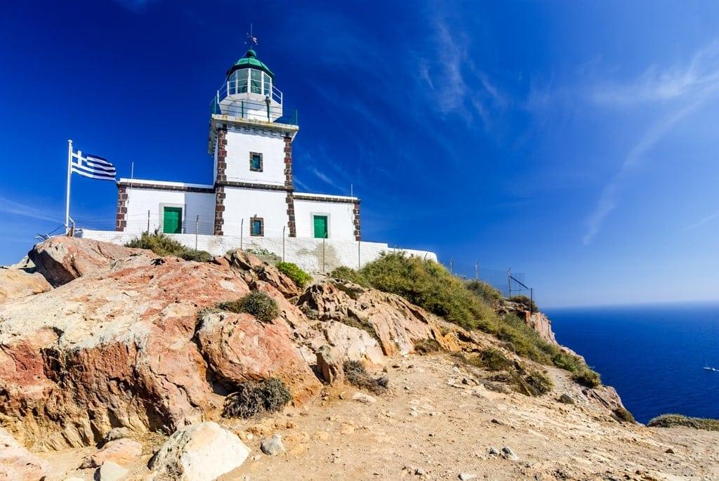 Akrotiri Lighthouse in Santorini itinerary