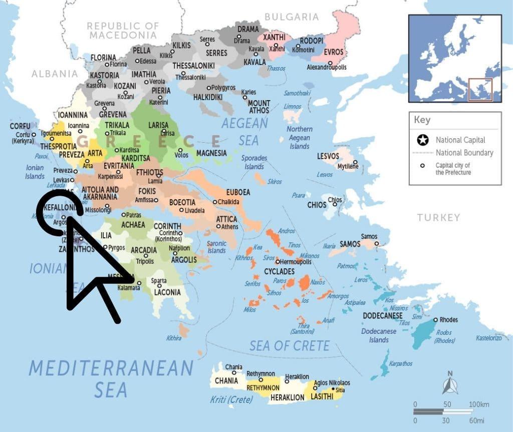 Where is Kefalonia - Kefalonia Map