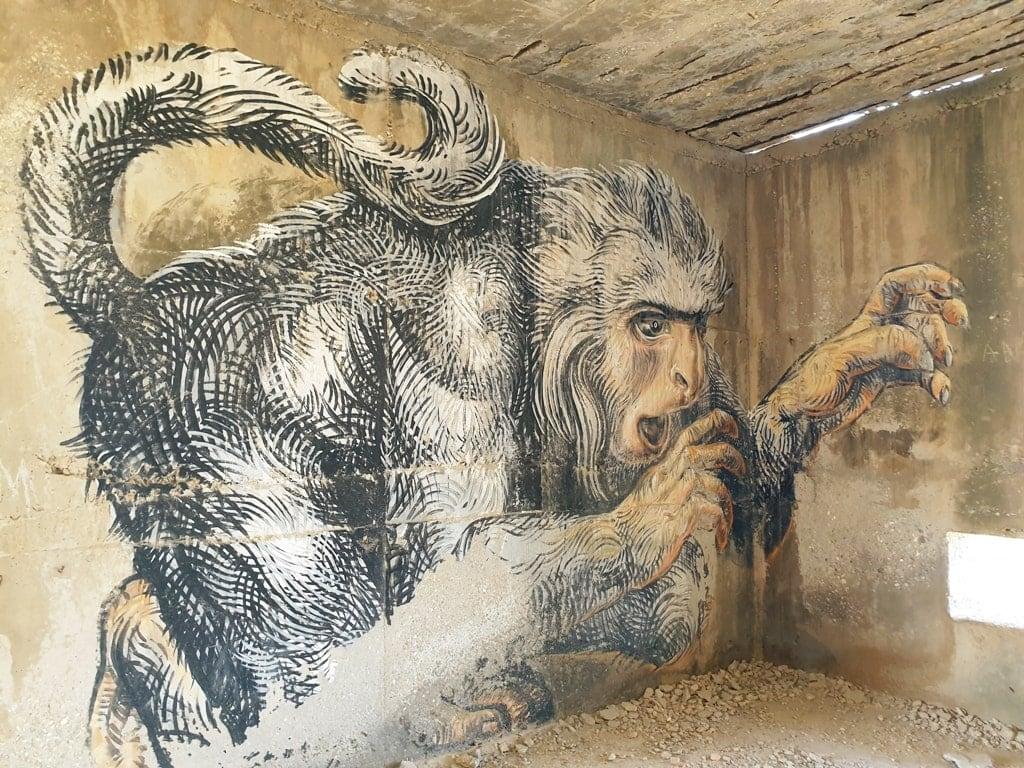 street art in Alyko Naxos island
