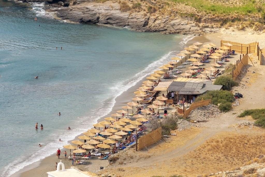 Chalkolimnionas beach Andros island
