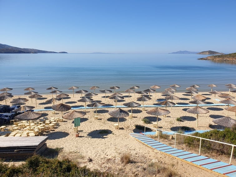 Golden Sand Beach Andros - Best Beaches in Andros