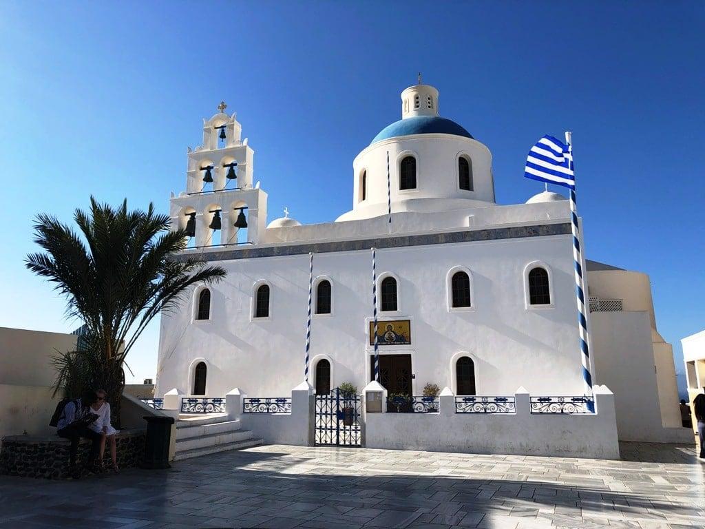 Virgin Mary Platsani Church Oia Santorini