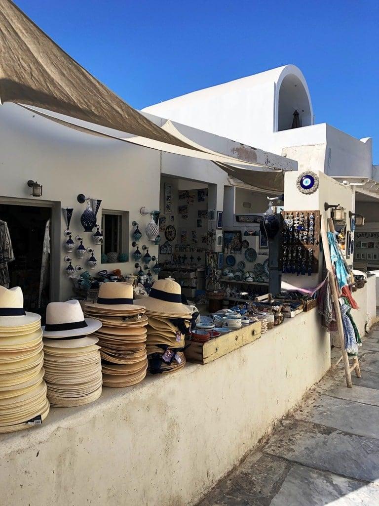 Shopping for souvenirs  in Oia Santorini