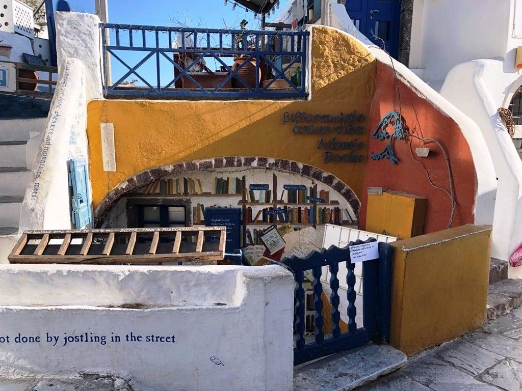 Atlantis Bookstore Oia Santorini