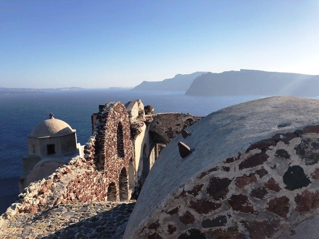 The Castle of Aghios Nikolaos in Oia Santorini