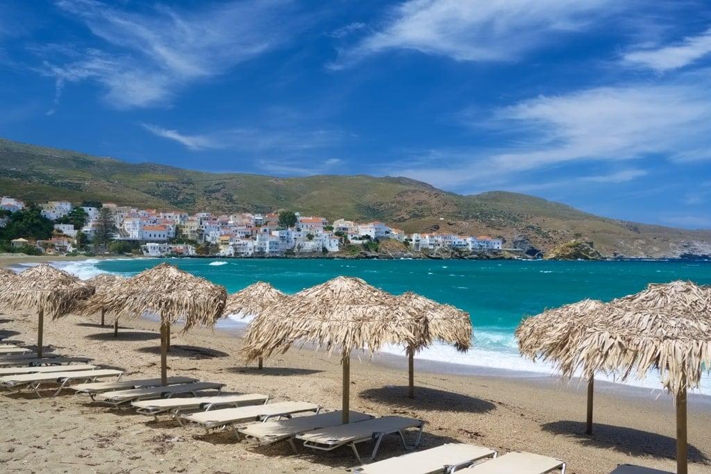 Paraporti Beach - Andros island beaches