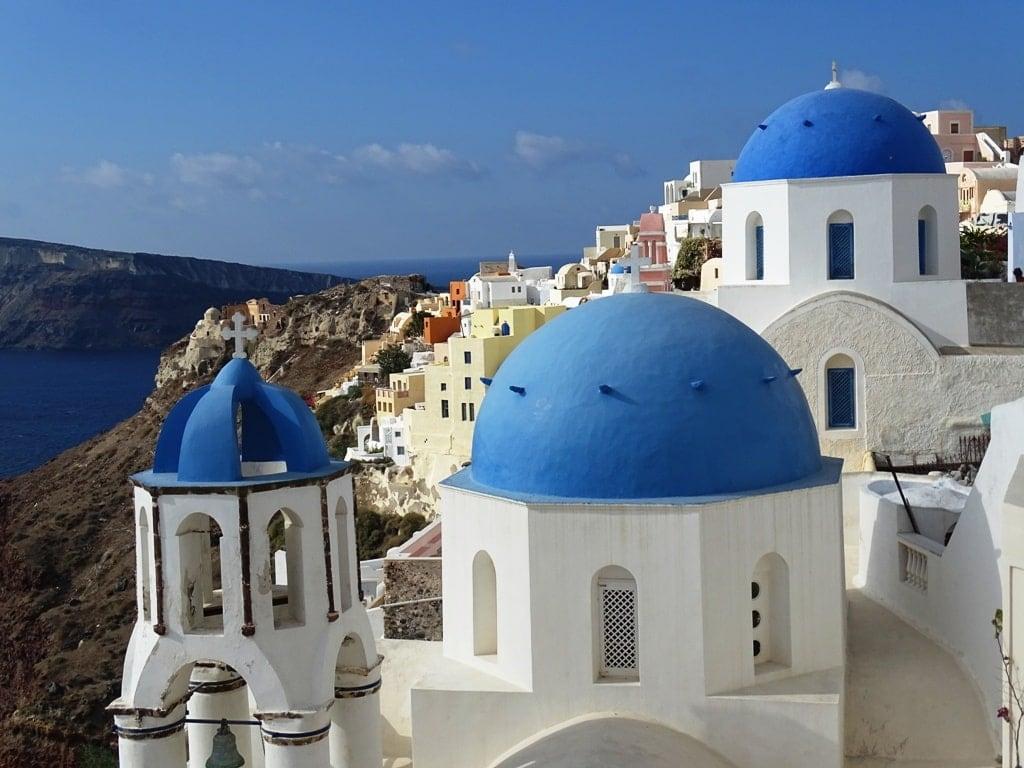 Blue domed Churches in Oia, Santorini