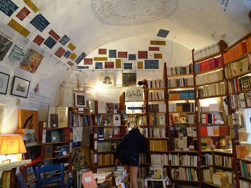 Inside Atlantis Bookstore Oia Santorini