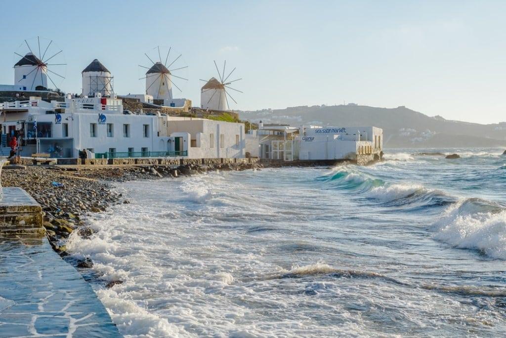 Meltemi winds Mykonos Greece
