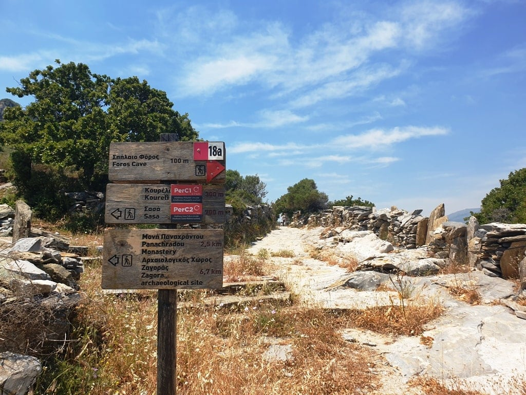 Hiking paths in Andros
