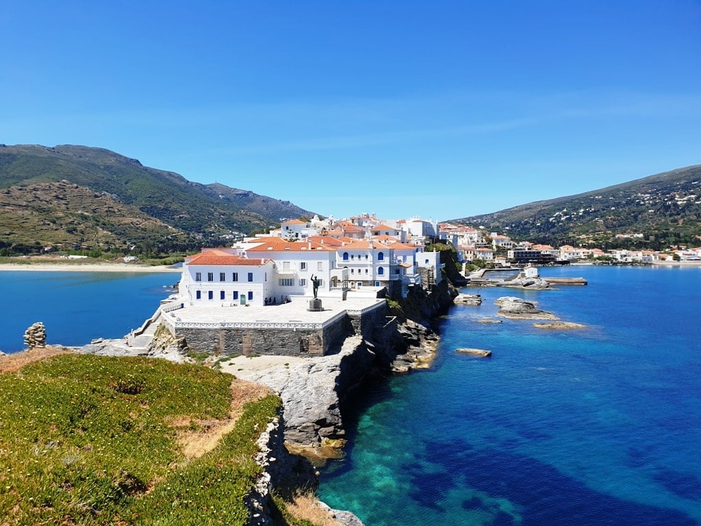 Chora Andros Island in Greece