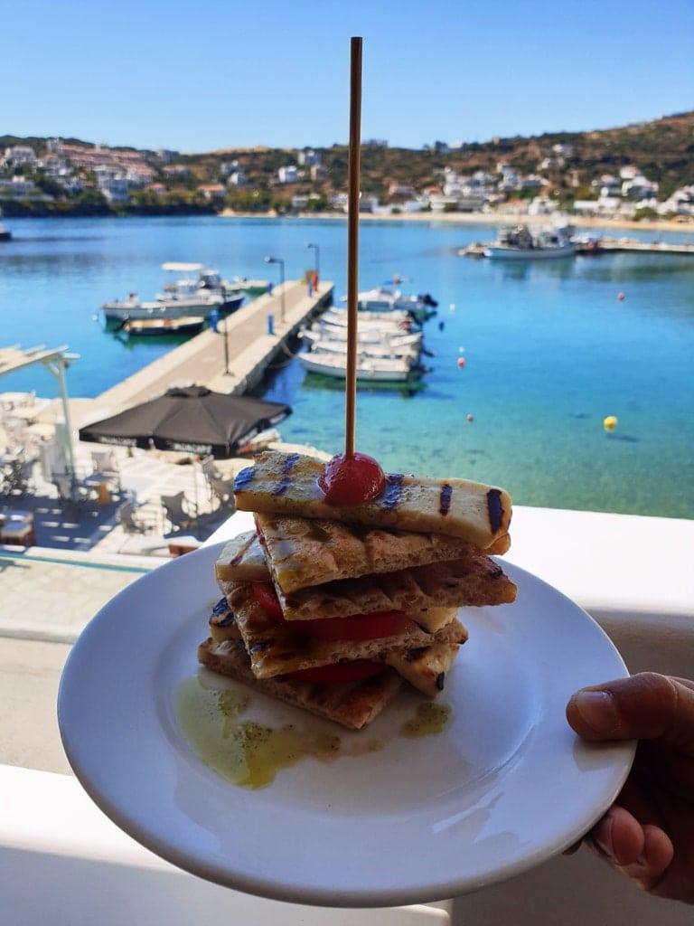 oti kalo restaurant Andros island