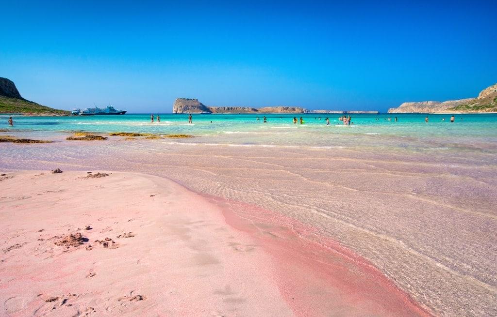 Balos pink beach in Crete