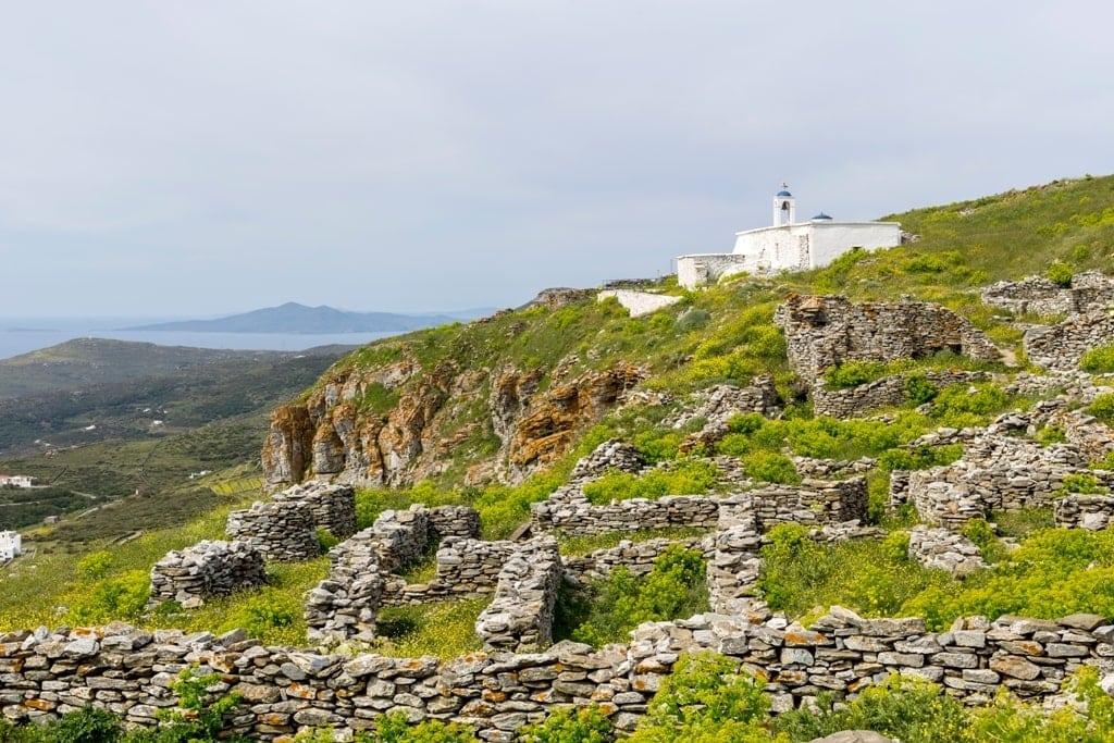 Castle of Faneromeni - Andros Island Greece