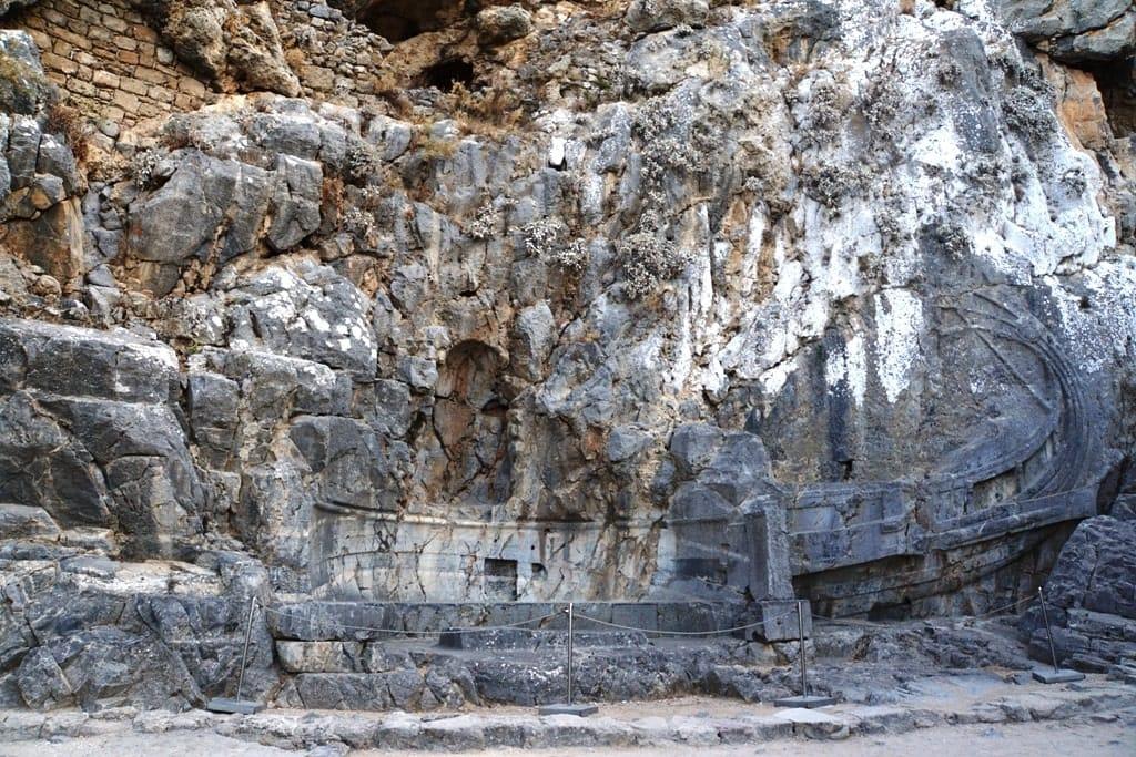 Rhodian trireme  Acropolis of Lindos