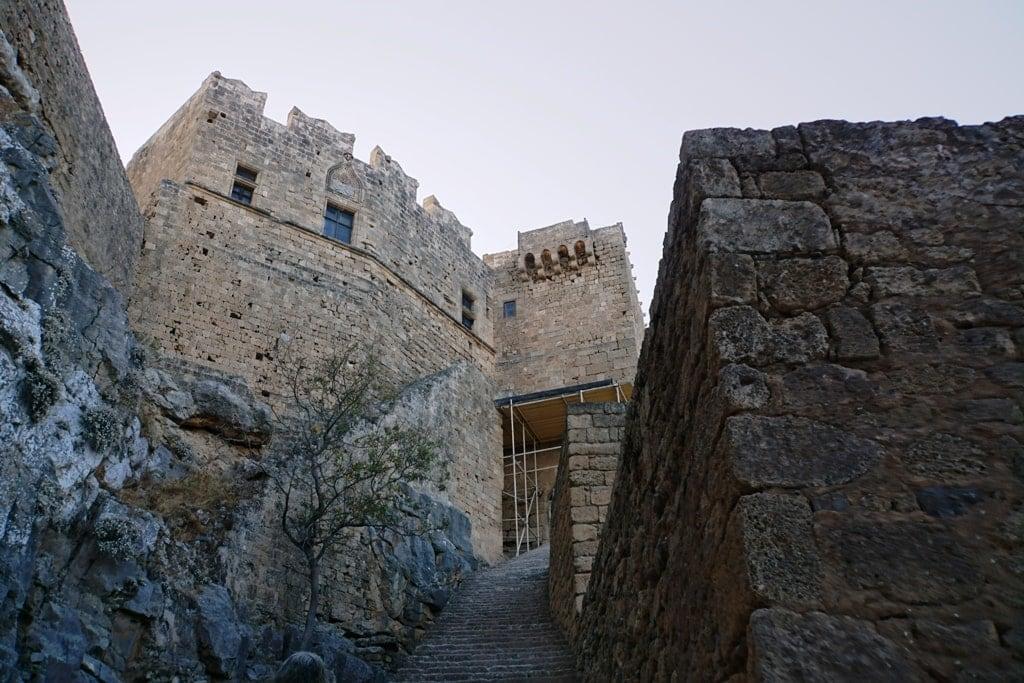 Acropolis of Lindos in Rhodes