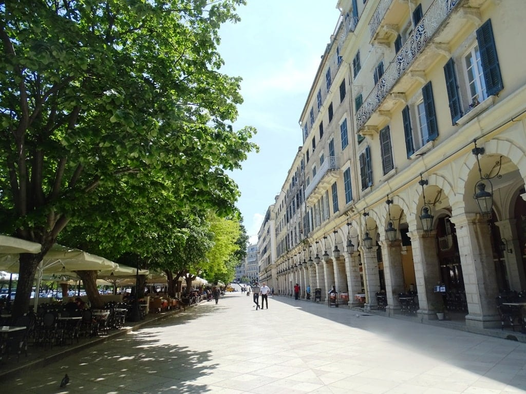 Liston - what to do in Corfu